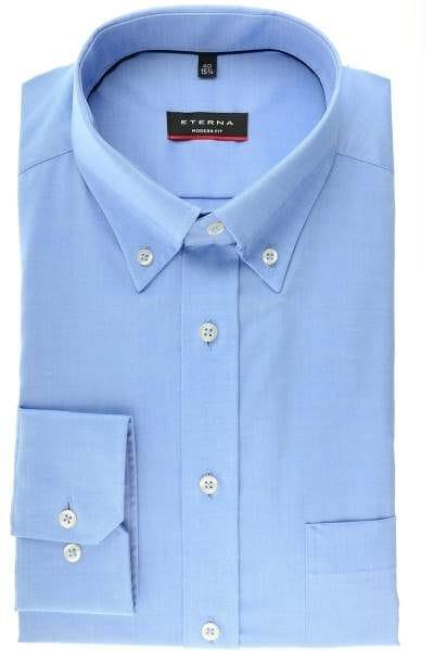 Eterna Hemd - Modern Fit - bleu, Einfarbig