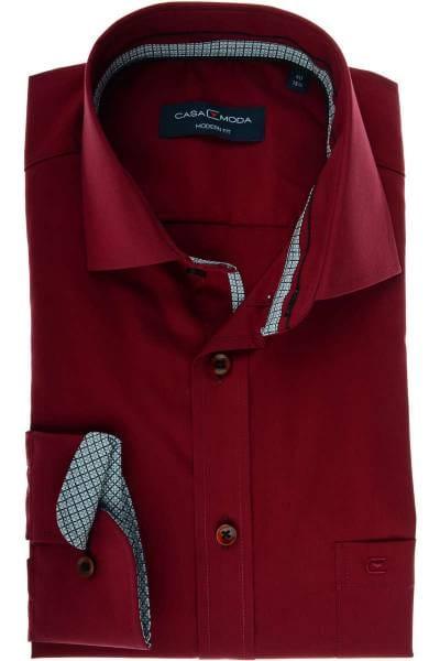 Casa Moda Modern Fit Hemd bordeaux, Einfarbig
