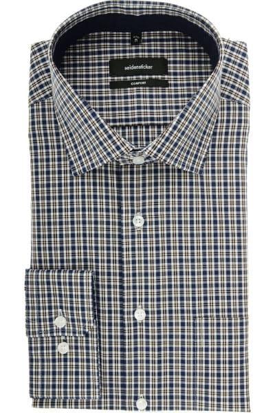 Seidensticker Comfort Fit Hemd blau/braun/weiss, Kariert