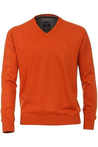 Casa Moda Strick - V-Ausschnitt Pullover - orange