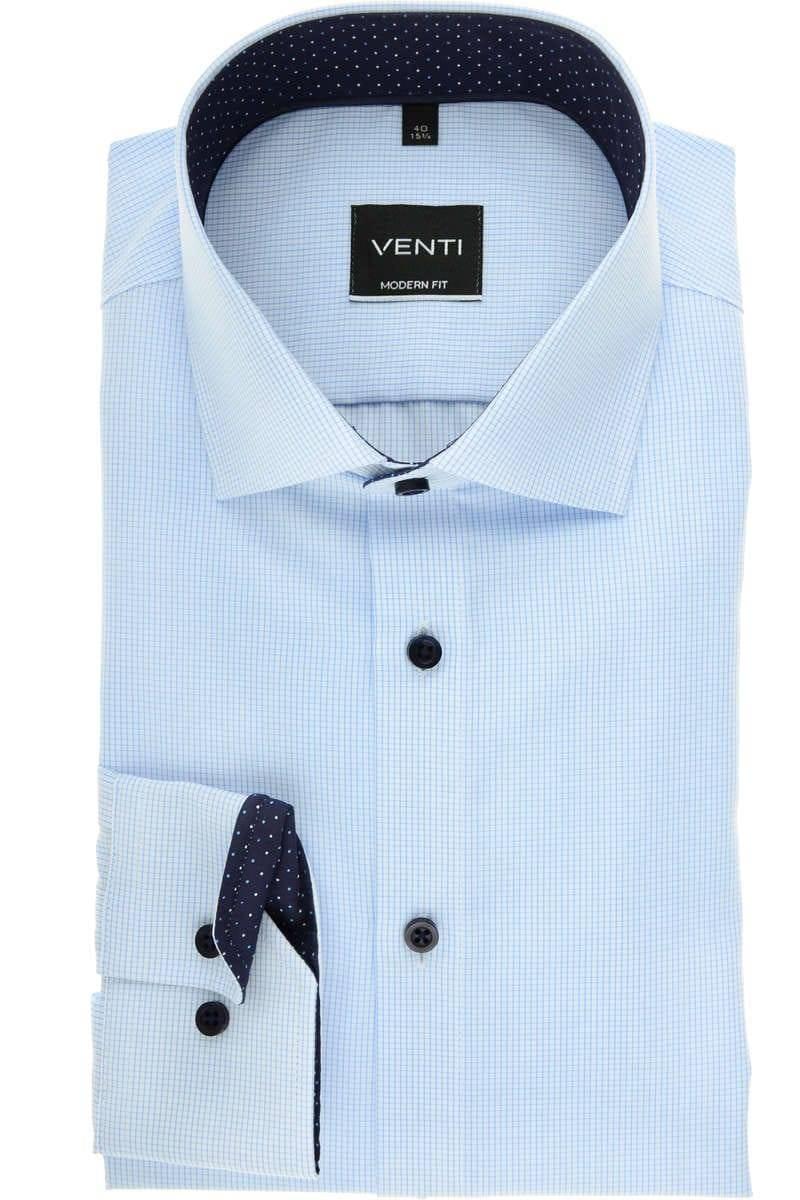 Venti Modern Fit Hemd blau/weiss, Kariert