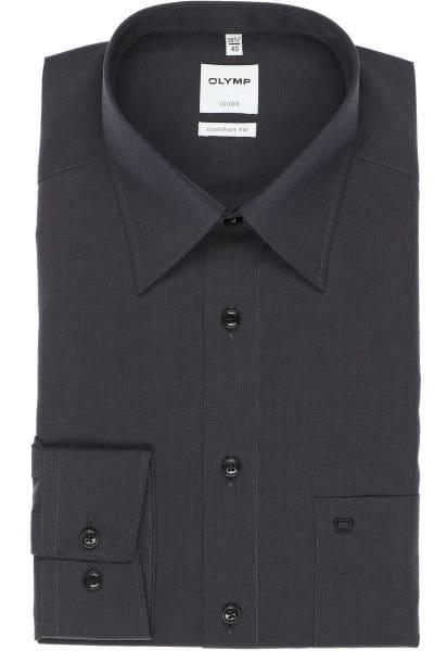 Olymp Luxor Comfort Fit Hemd anthrazit, Einfarbig