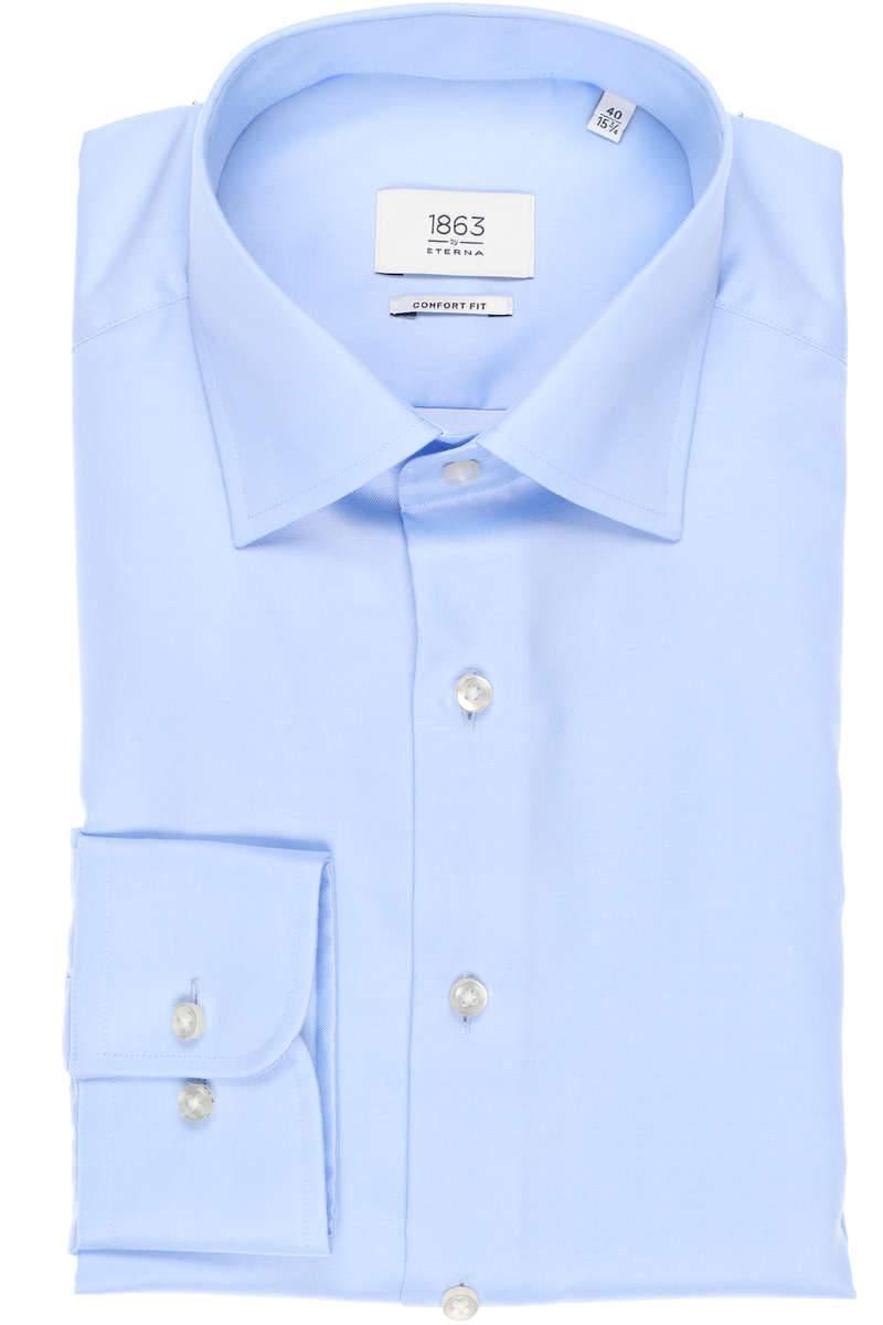 ETERNA Comfort Fit Hemd hellblau, Einfarbig