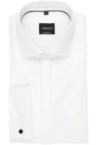 Venti Hemd - Evening - Slim Fit - weiss, Einfarbig