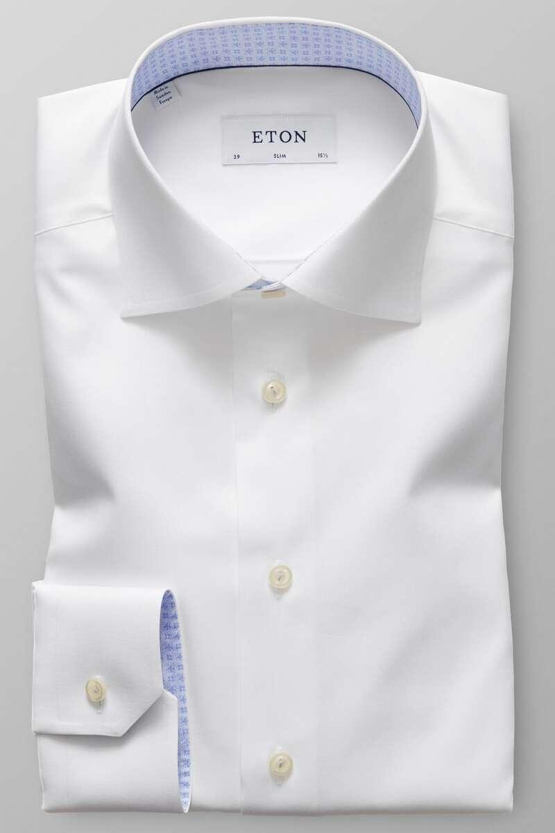 ETON Slim Fit Hemd weiss, Einfarbig 39 - M
