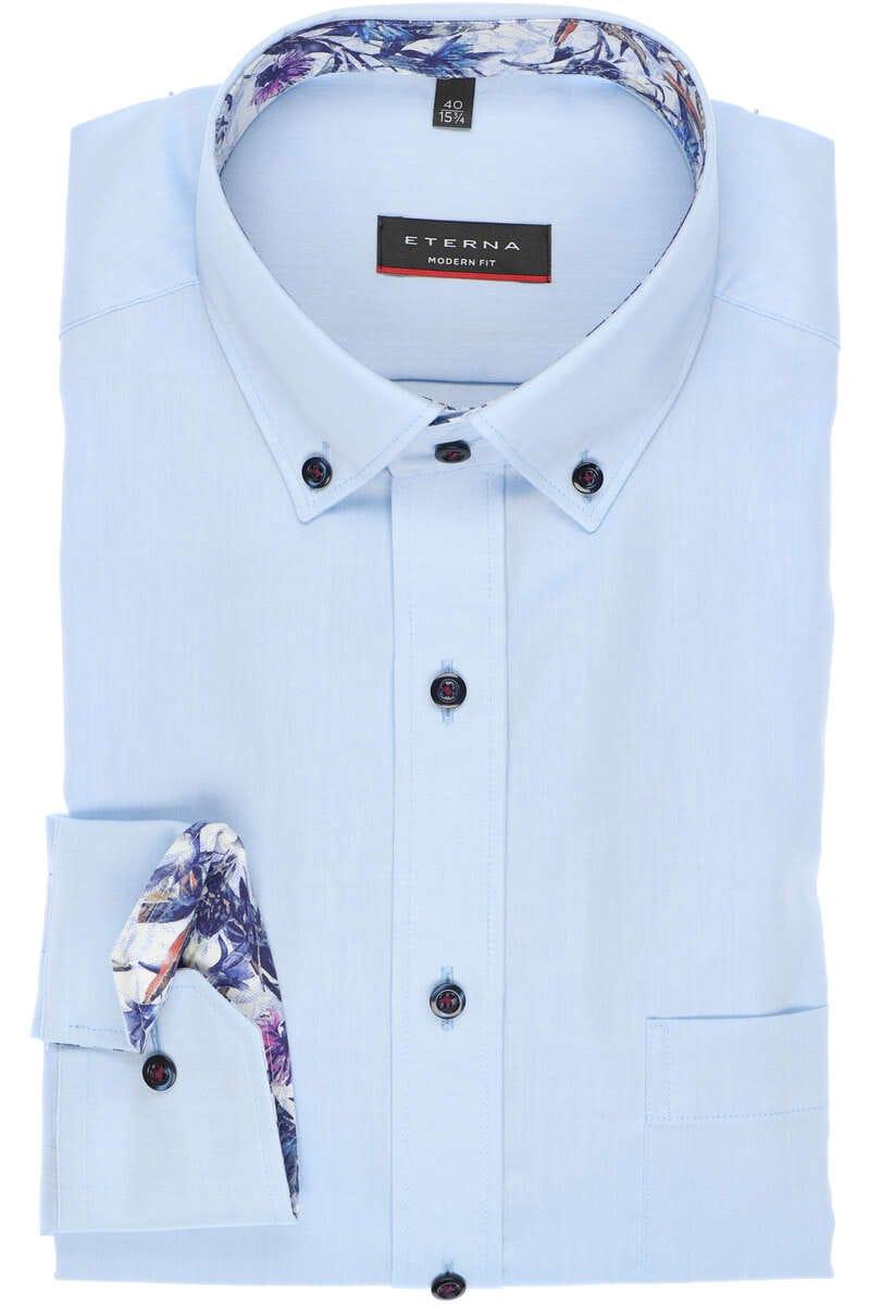 ETERNA Modern Fit Hemd hellblau, Einfarbig 40 - M
