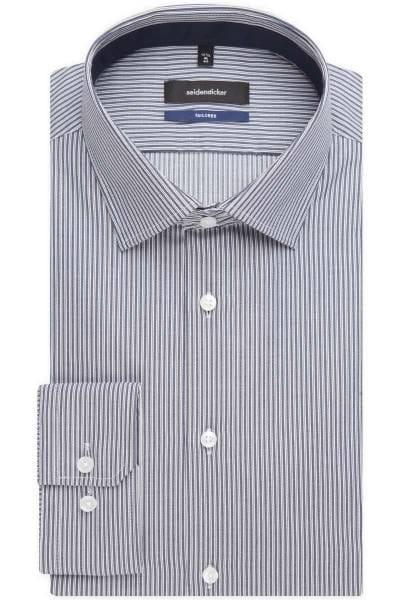 Seidensticker Tailored Hemd blau/braun/weiss, Gestreift