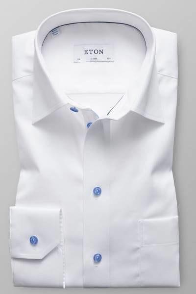 Eton Hemd - Classic Fit - weiss, Einfarbig