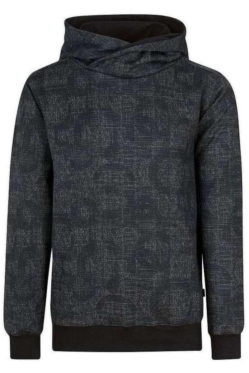 TRIGEMA Slim Fit Kapuzen Sweatshirt schwarz, einfarbig M