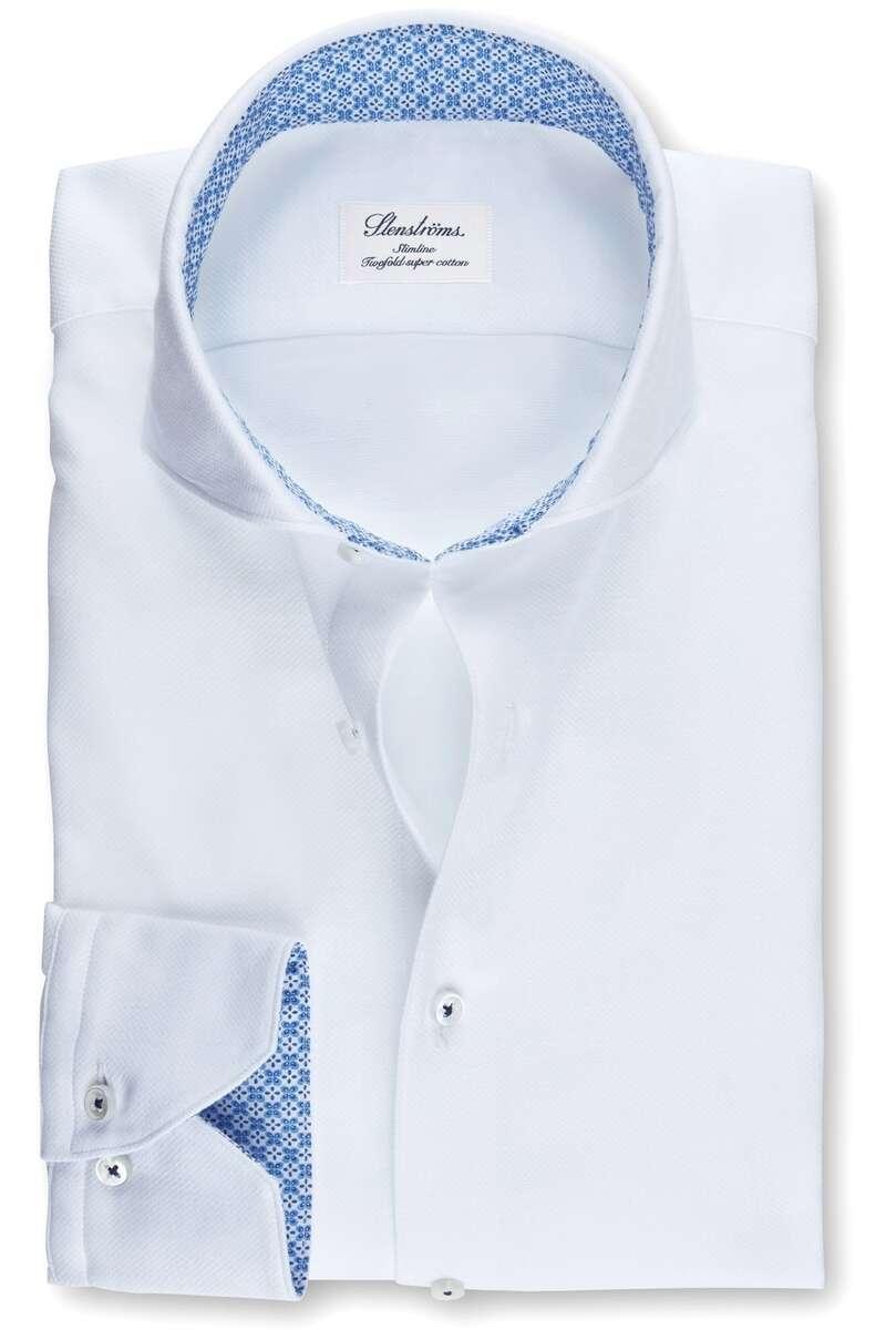 Stenströms Slimline Hemd weiss, Einfarbig 38 - S