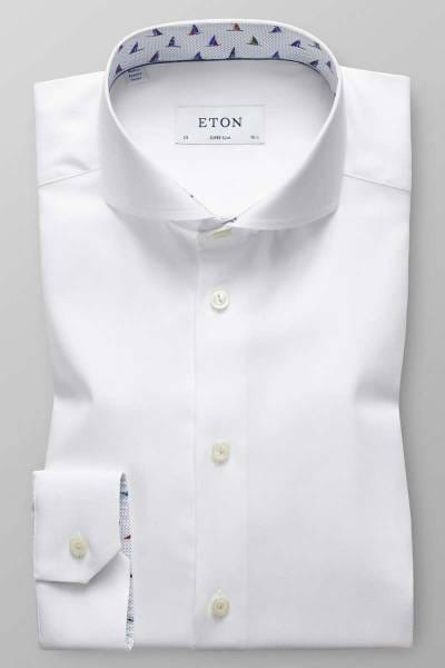 Eton Super Slim Hemd weiss, Einfarbig