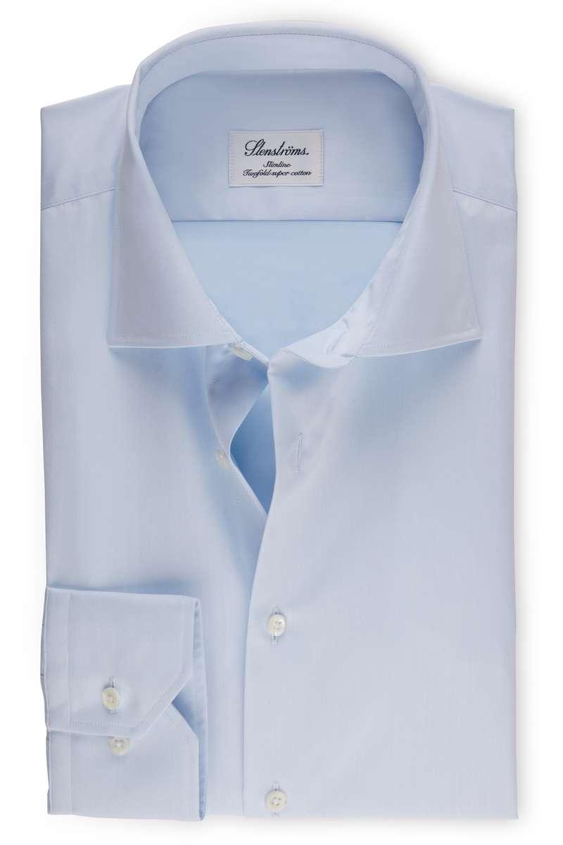 Stenströms Slimline Hemd hellblau, Einfarbig (extra langer Arm) 40 - M