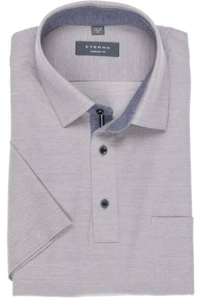 ETERNA Comfort Fit Poloshirt grau, Einfarbig