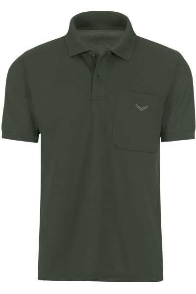 TRIGEMA Comfort Fit Poloshirt oliv, Einfarbig