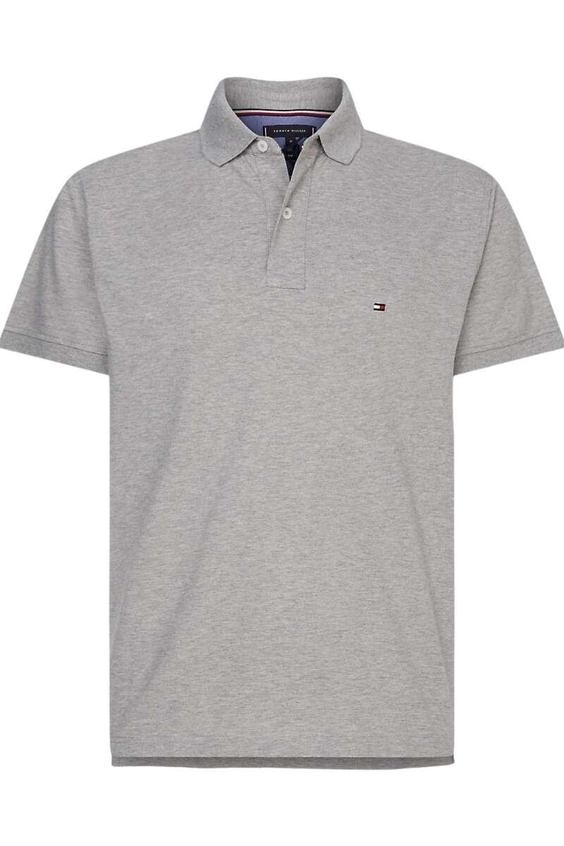 Tommy Hilfiger Regular Fit Poloshirt grau, Einfarbig L