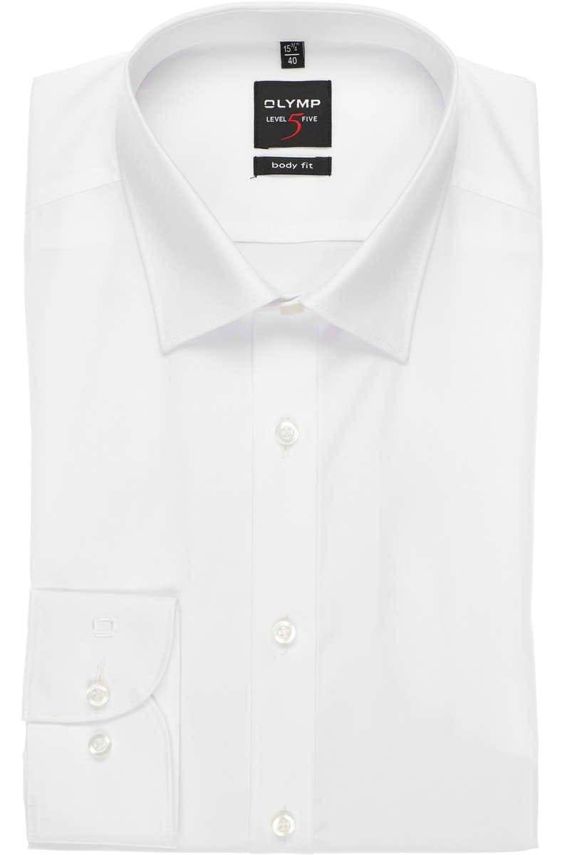 new lifestyle factory outlet fantastic savings OLYMP Level Five Body Fit shirt white, One Colour