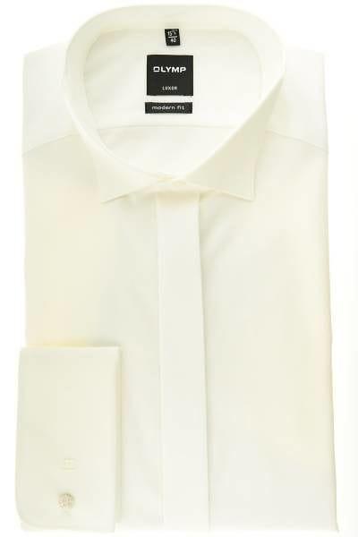 Olymp Hemd - Gala - beige, Einfarbig
