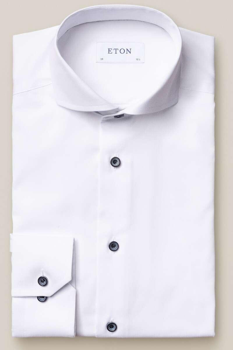 ETON Slim Fit Hemd weiss, Einfarbig 41 - L