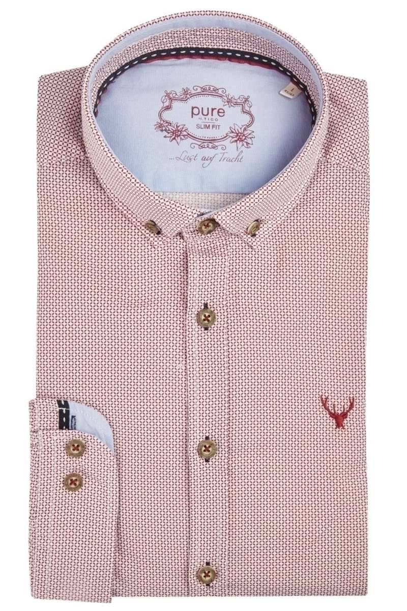 check out 3c15a 8b324 Pure Slim Fit traditional shirt red/white, Patterned