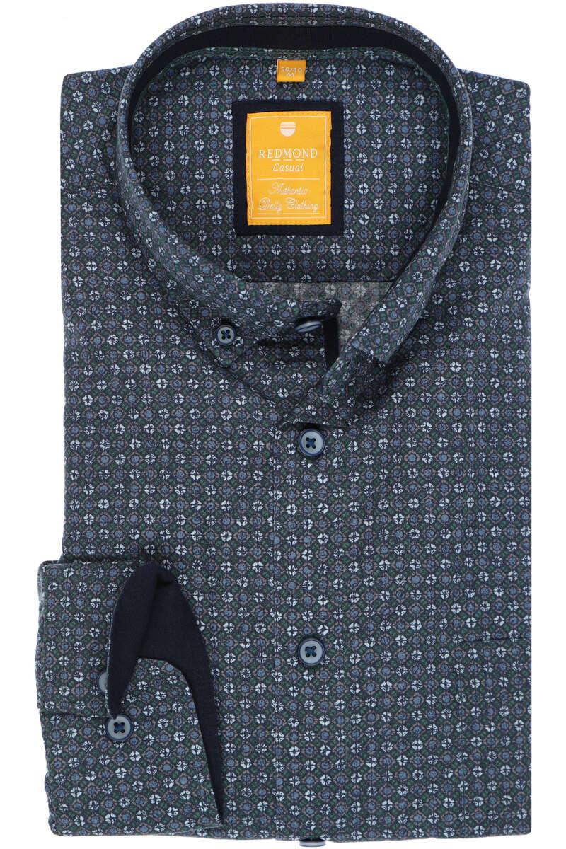Redmond Modern Fit Hemd blau, Gemustert S