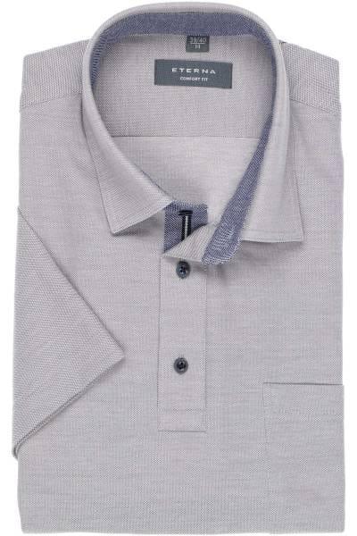 ETERNA Comfort Fit Hemd grau, Einfarbig
