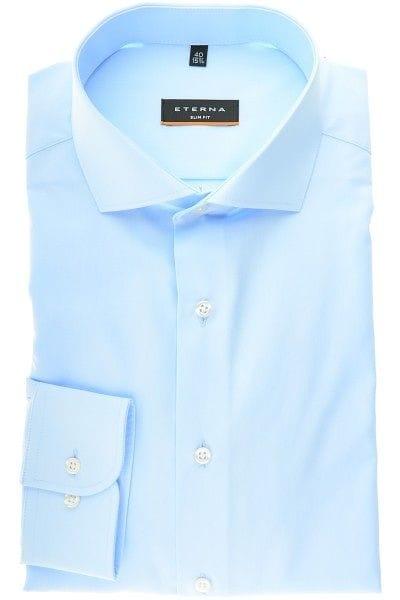 Eterna Hemd - Slim Fit - hellblau, Einfarbig