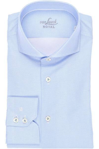 van Laack Tailor Fit Hemd bleu/weiss, Gemustert