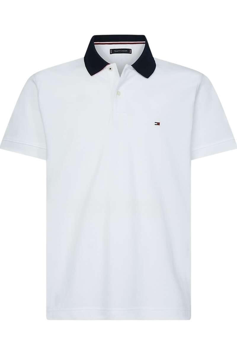 Tommy Hilfiger Regular Fit Poloshirt weiss, Einfarbig M