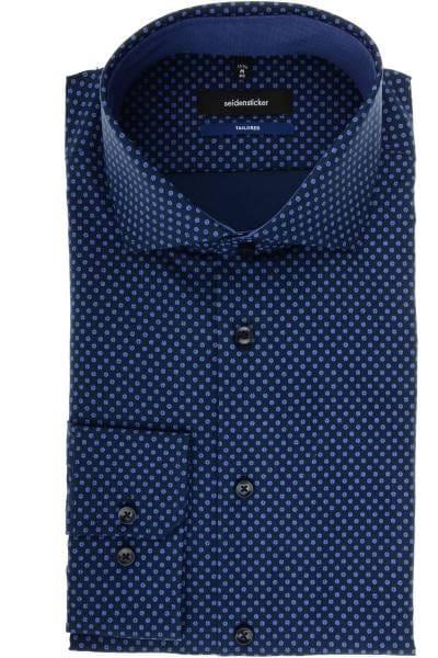 Seidensticker Tailored Hemd dunkelblau/blau, Gemustert