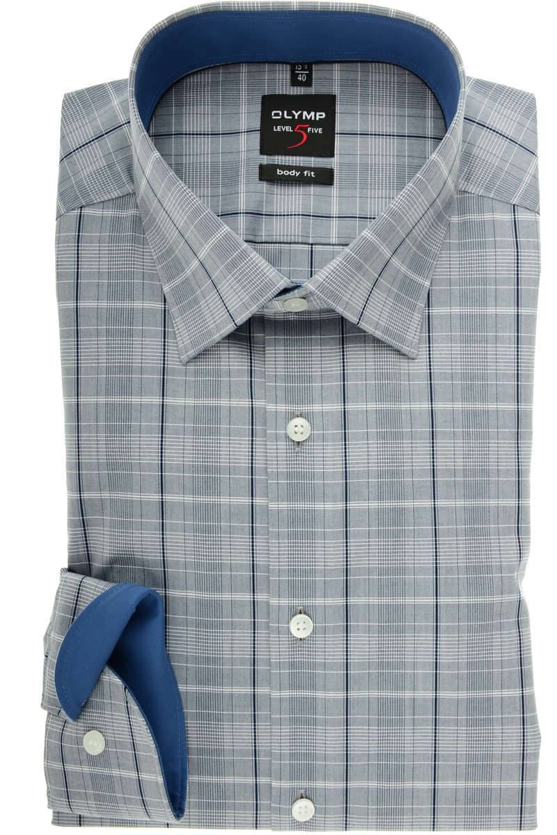 coupon code new high best wholesaler OLYMP Level Five Body Fit Hemd rauchblau, Kariert