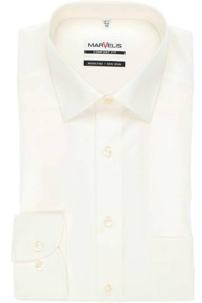 Marvelis Hemd - Comfort Fit - beige, Einfarbig