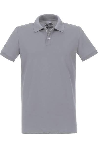 TRIGEMA Poloshirt - Polo, Slim Fit - grau, Einfarbig