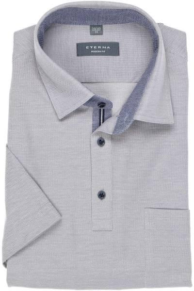 ETERNA Modern Fit Poloshirt grau, Einfarbig