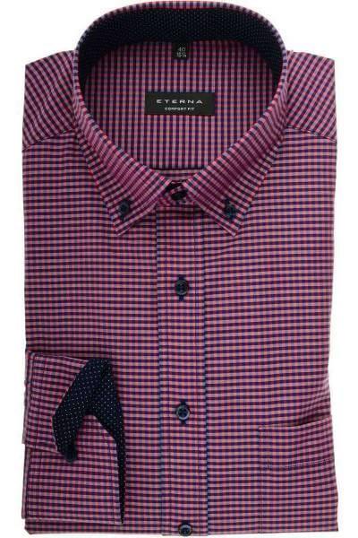 2ee3d7177515 Hochwertiges ETERNA Comfort Fit Hemd in der Farbe rot blau, Kariert ...