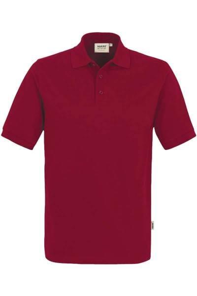 HAKRO Comfort Fit Poloshirt weinrot, Einfarbig