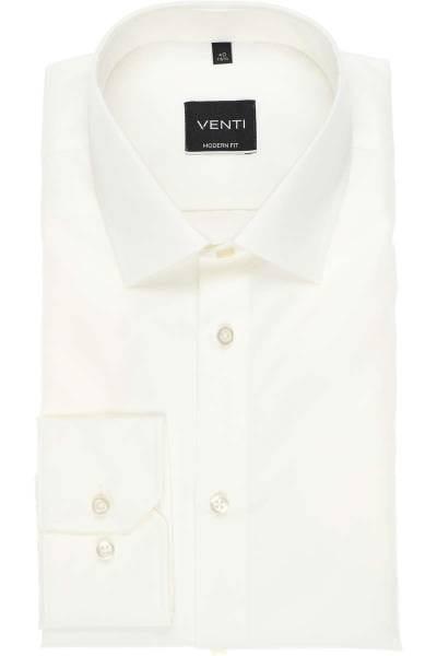 Venti Hemd - Modern Fit - creme, Einfarbig