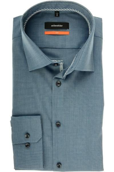Seidensticker Slim Fit Hemd dunkelblau, Strukturiert
