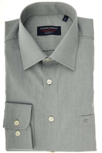 Casa Moda Modern Fit Hemd grau, Einfarbig