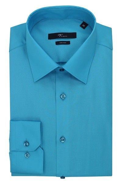 Venti Hemd - Modern Fit - aqua, Einfarbig