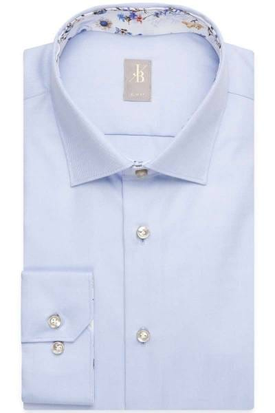 Jacques Britt Slim Fit Hemd blau, Einfarbig