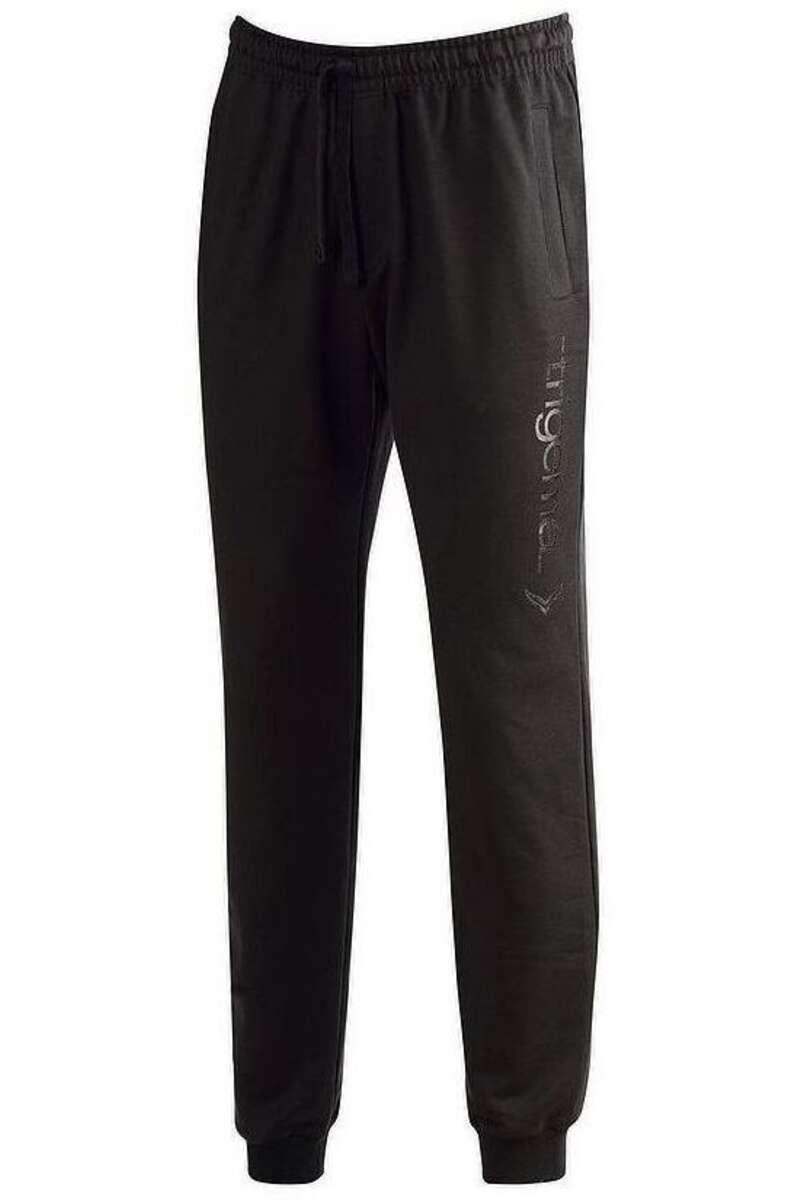 TRIGEMA Comfort Fit Freizeithose schwarz, bedruckt M