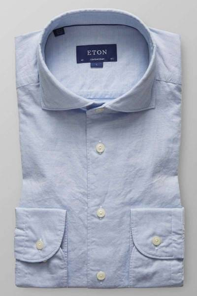 ETON Contemporary fit Hemd hellblau, Einfarbig