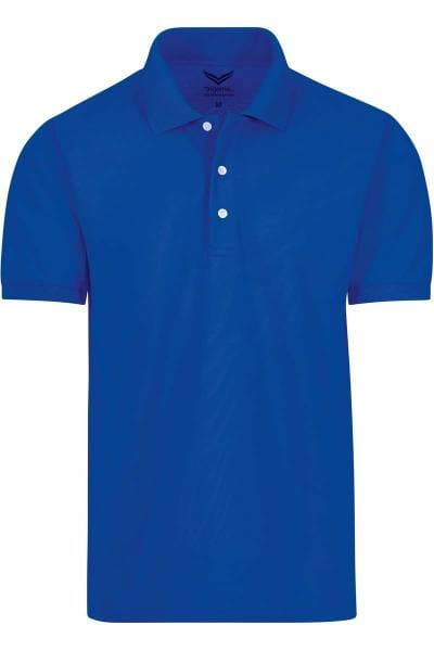 TRIGEMA Comfort Fit Poloshirt royal, Einfarbig