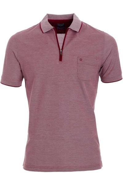 OLYMP Casual Modern Fit Poloshirt rot, melange