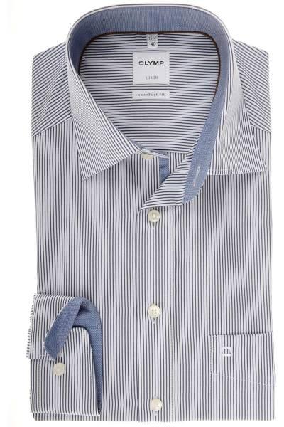 Olymp Luxor Comfort Fit Hemd marine/weiss, Gestreift