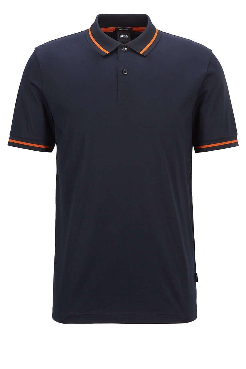 BOSS Regular Fit Poloshirt dunkelblau, Einfarbig XXL