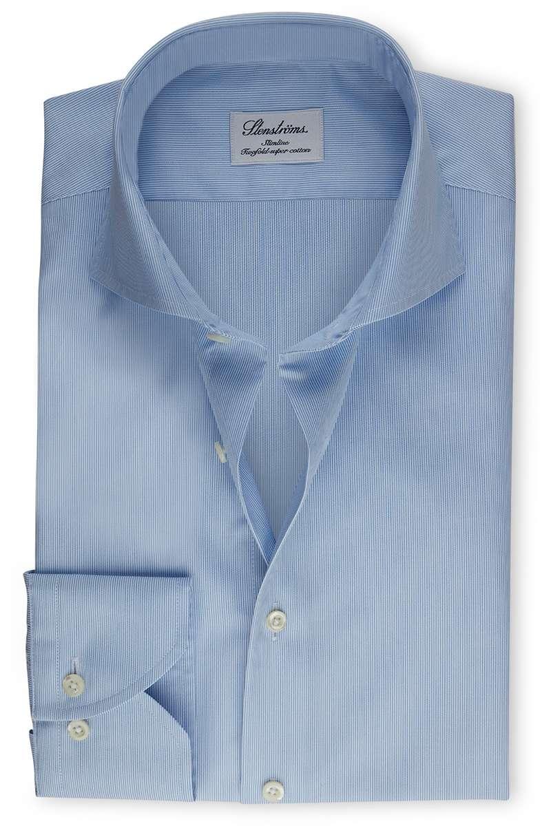 Stenströms Slimline Hemd blau, Gestreift 43 - XL