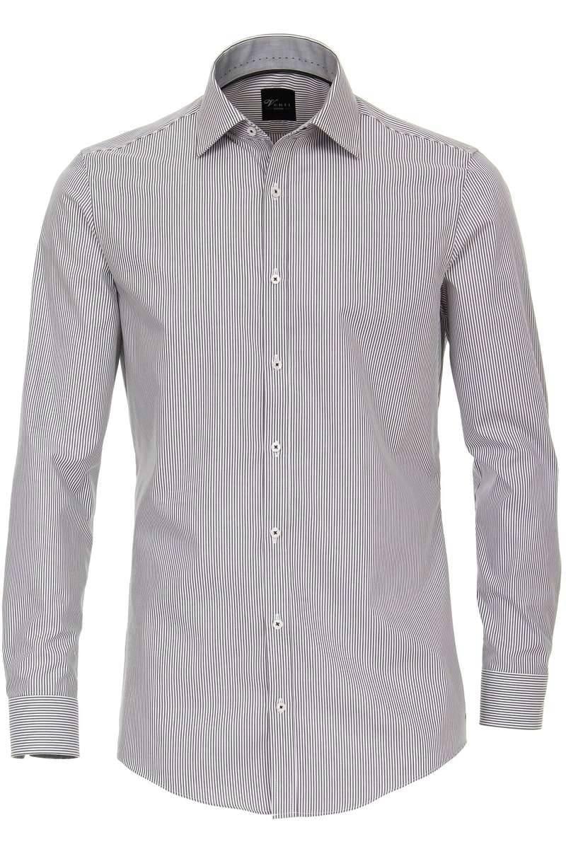 new york low priced reasonable price Venti Body Fit Hemd grau/weiss, Gestreift