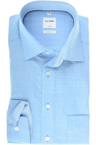 OLYMP Luxor Comfort Fit Hemd bleu, Gemustert