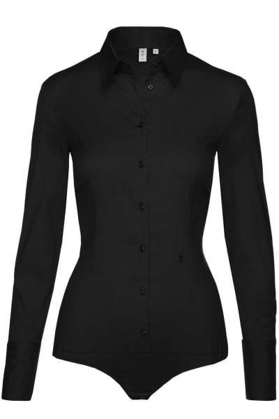 Seidensticker Slim Fit Bluse schwarz, Einfarbig